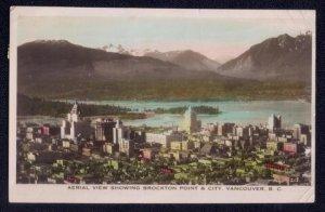 1937 Canada Sc #233 Postcard Vancouver BC To Sweden Aerial View Brockto...