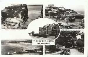 Cornwall Postcard - The Duchy Hotel, Newquay, Cornwall - Real Photograph - TZ440