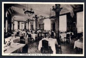 Hotel Astoria Dining Room Coimbra Portugal unused c1920's
