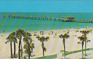 Florida Clearwater Beach Big Pier 60 Extends Majestically Into The Gulf Of Me...