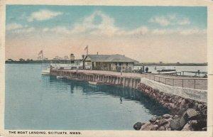 SCITUATE , Massachusetts , 1917 ; The Boat Landing