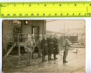 222236 SWEDEN LUND Railways station guard 1924 year real photo