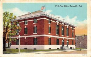 Batesville Arkansas Post Office Street View Antique Postcard K52537
