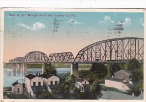 Kentucky Louisville New K & I Bridge On River 1915