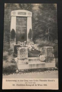 Mint Austria RPPC Postcard Zionist Congress 1913 Theodor Herzl Grave