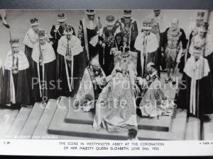 Tuck RP Queen Elizabeth ll Coronation THE BISHOPS PAYS HOMAGE 2nd June 1953 C29