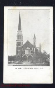 FARGO NORTH DAKOTA ST MARY'S CATHEDRAL CHURCH ANTIQUE VINTAGE POSTCARD ND