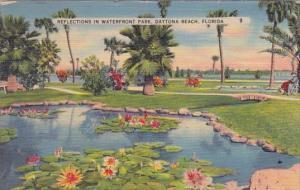 Florida Daytona Beach Reflectyions In Waterfront Park 1962