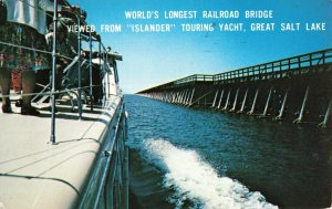 Postcard World Longest Railroad Bridge Salt Lake City Utah
