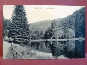 Old Postcard: Oberhof Germany Silberteich Silver Pond