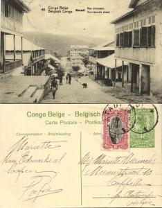 belgian congo, MATADI, Main Street (1922) Postcard (48)