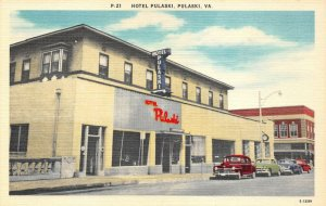 LP51 Hotel Pulaski    Virginia Postcard