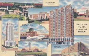 Missouri Kansas City Phillips Hotel 1946 Curteich