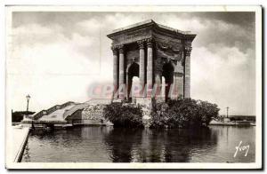 Montpellier Old Postcard Garden of Peyrou Le Chateau d & # 39eau