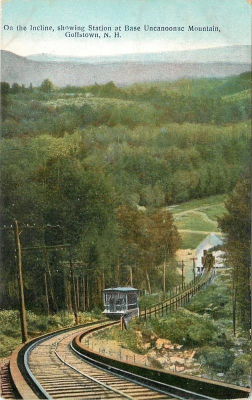 Goffstown NH~Incline~Trolley Station @ Base of Uncanoonuc