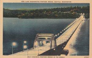 SEATTLE, Washington, 1930-1940s; Lake Washington Pontoon Bridge