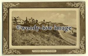 tp0643 - Essex - Embossed Bordered View of Promenade c1911, Felixstowe- Postcard