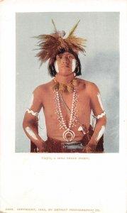 G21/ Native American Indian Postcard c1910 Taqui Moki Snake Priest 23