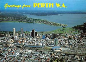 Australia Greetings from Perth Western Australia Panorama