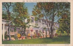 California Santa Monica Will Rogers' Ranch House 1938
