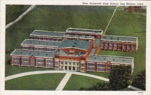 Iowa Des Moines New Roosevelt High School 1939 Curteich