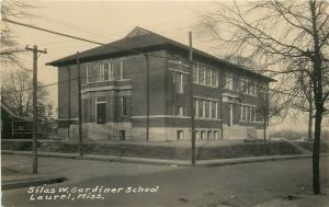 Laurel Mississippi~Silas W Gardiner School~Neighborhood~1920s Real Photo~RPPC