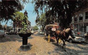 Original Cobblestone Streets in Nantucket, Massachusetts