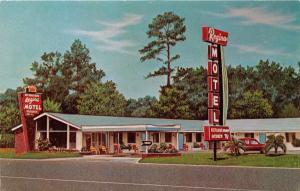 CALLAHAN FL~REGINA MOTEL~U.S 301-23 OFF U.S 1~MID-CENTURY MODERN POSTCARD 1960s