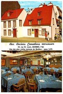 Quebec , Aux Anciens Canadiens Restaurant