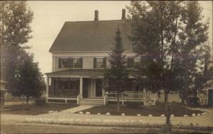 North Conway NH Grove St. Grove Hall c1910 Real Photo Postcard