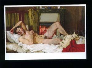 179215 Konstantin Somov The sleeping nude Man modern postcard