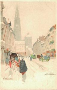 Artist Signed H.CASSIERS Anvers Le Cathedrale 01.81