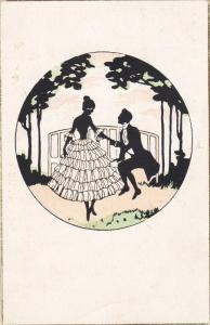 SILHOUETTE; Romantic Couple, PU-1924