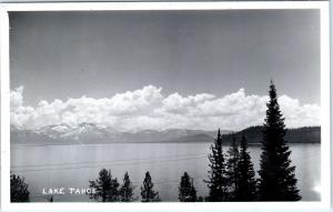 RPPC  LAKE TAHOE, CA  California    Beautiful LAKE VIEW   c1940s  Postcard