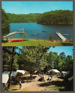 Morin Heights QC Girl Guide Camp Wa-Thik-Ane Lot of 2 Postcards 1950s