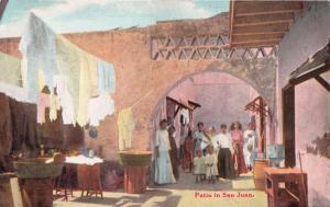 SAN JUAN PUERTO RICO~PATIO IN PRIVATE HOME~WALDROP PUBL VIEW #22 POSTCARD c1909