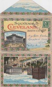 CLEVELAND , Ohio , PU-1915 : Folder Postcard