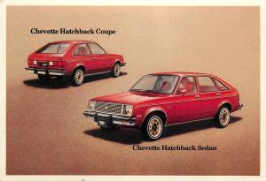 GMC Chevrolet Chevette Hatchback Coupe & Sedan car automobile dealer postcard
