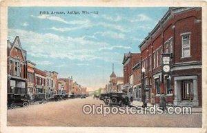 Fifth Avenue Antigo, Wis, USA 1926 Missing Stamp