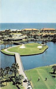Ponte Vedra Beach Florida~Golf Club Aerial View~Golfers @ Island Ninth Hole~'60s