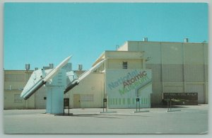 Albuquerque New Mexico~National Atomic Museum~Air Force~Missiles~Postcard~1950s
