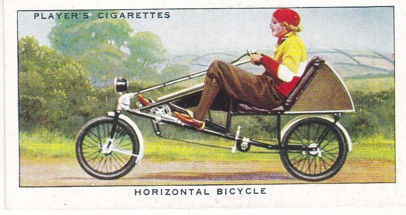 Cigarette Cards Players CYCLING No 36 Horizontal Bicycle
