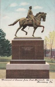 Pennsylvania Harrisburg Statue Of George Frederick Hortranft In Capitol Park