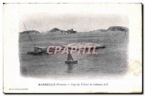 Old Postcard Marseille France Islands of Friuli and Chateau d'If