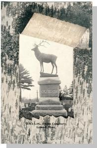 Vintage Lowell, Mass/MA Postcard, Elk's Lot, Edson Cemetery