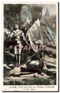 Old Postcard Fancy Jeanne d & # 39arc wounded in battle d & # 39Orleans May 6...
