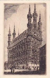 Side View Of A Building, Louvain (Flemish Brabant), Belgium, 1900-1910s