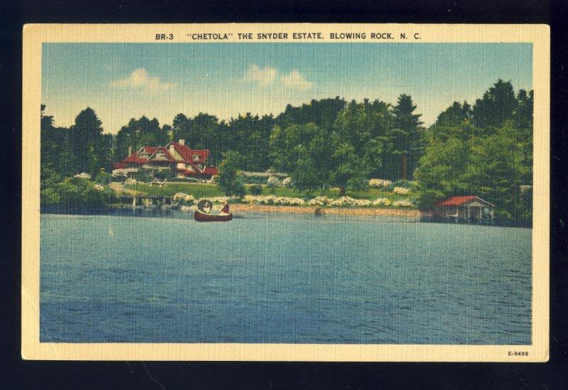 Blowing Rock, North Carolina/NC Postcard, Chetola, The Snyder Estate