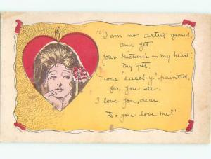 Divided-Back PRETTY WOMAN Risque Interest Postcard AA7923