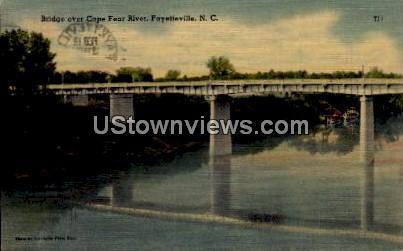 Bridge Over Cape Fear River Fayetteville NC 1946